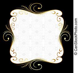 Golden floral frame