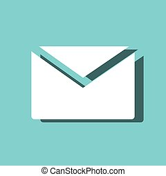 envelope mail message isolated icon