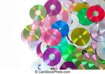 CD and DVD background - CD and DVD as color technology...