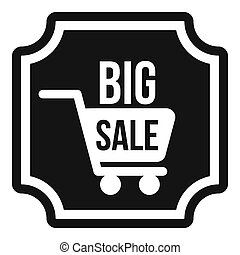 Big sale sticker icon, simple style - icon in simple style...