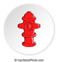 Fire hydrant icon, cartoon style - Fire hydrant icon in...