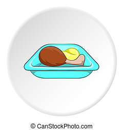 Airline food icon, cartoon style - Airline food icon in...