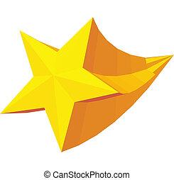 Golden star award icon, isometric 3d style - Golden star...