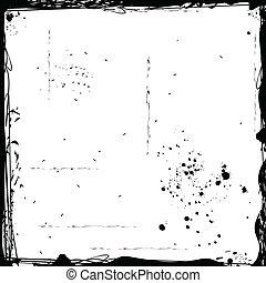 Grunge frame - Illustration of black grunge frame Vector