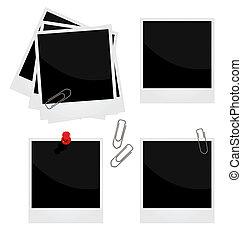 realista, Ilustración, Conjunto, foto, marco