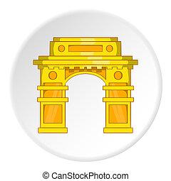 ícone, estilo, arco, caricatura, oriental