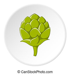 Seeds hops icon, cartoon style - Seeds hops icon in cartoon...