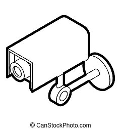 Surveillance camera icon, outline style - icon in outline...