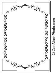 Blank floral frame border - Illustration blank floral frame...