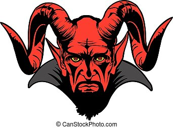 DEVIL - devil head illustration