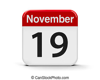 19th November - Calendar web button - The Nineteenth of...
