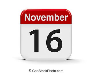 16th November - Calendar web button - The Sixteenth of...