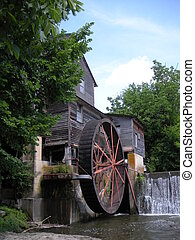 The Old Mill - Old Mill at the Smokies next to waterfall