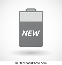 Isolated  battery icon with    the text NEW