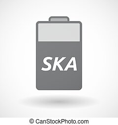 Isolated battery icon with the text SKA - Illustration of an...