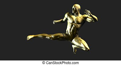 Sports Fitness Concept as a Abstract Background