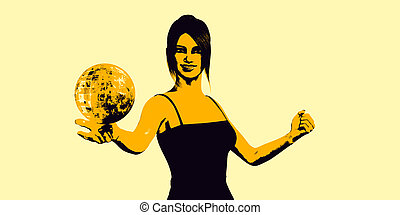 Global Communications with Woman Holding Globe in Her Palm