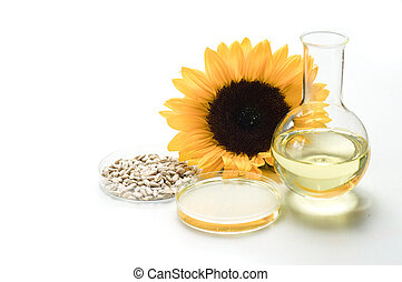 Analysis of sunflower oil in laboratory - Oil examination in...