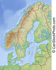 Stock Illustrations Of Relief Map Gotland County Sweden D - Sweden relief map