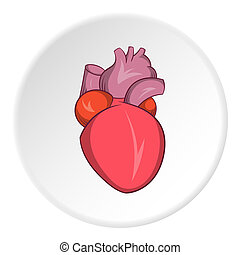 Heart human icon, cartoon style - Heart human icon in...
