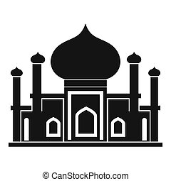 Mosque icon in simple style - icon in simple style on a...