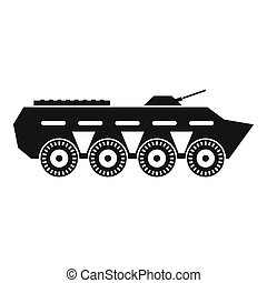 Army battle tank icon, simple style - Army battle tank icon...