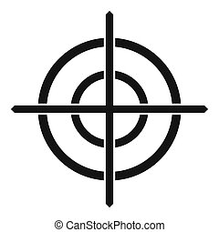 Target crosshair icon, simple style - icon in simple style...
