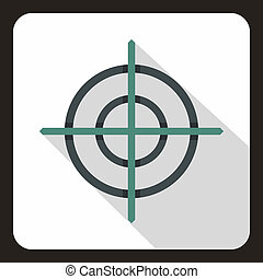 Target crosshair icon, flat style - icon in flat style on a...