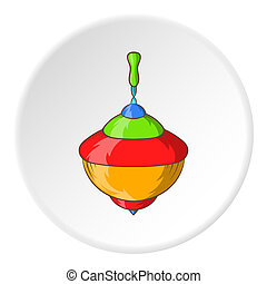 Whirligig icon, cartoon style - Whirligig icon in cartoon...