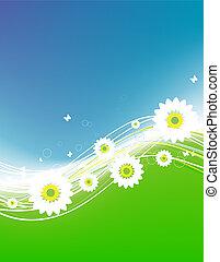 Floral summer background for your design