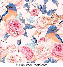 Seamless vintage roses