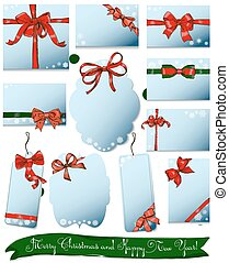 Set of gift bows for Christmas and New Year.