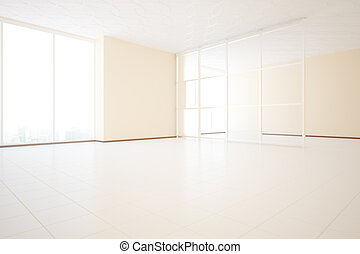 Unfurnished interior side - Bright unfurnished beige...