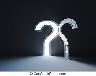 Answers to the question door shape. The opened doors in form...