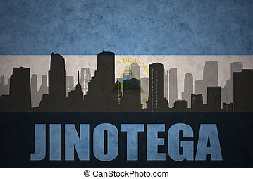 abstract silhouette of the city with text Jinotega at the...