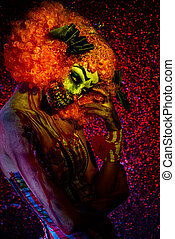 terrible clown - Portrait of a terrible bloody redhead...