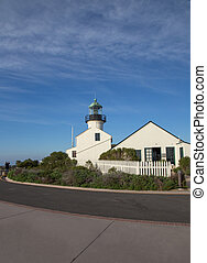 Lighthouse at Point Loma, side view - Visited Point Loma on...