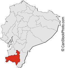 Map - Ecuador, Loja - Map of Ecuador with the provinces,...