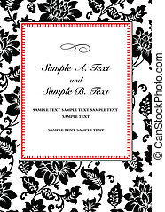 Vector Floral Frame and Sample Text