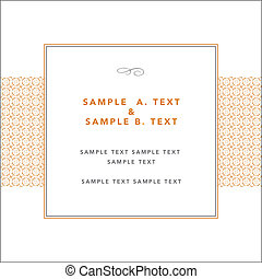 Vector Modern Frame and Sample Text - Vector modern pattern...