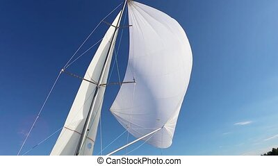 Incorrect configuration the spinnaker on a fair wind -...