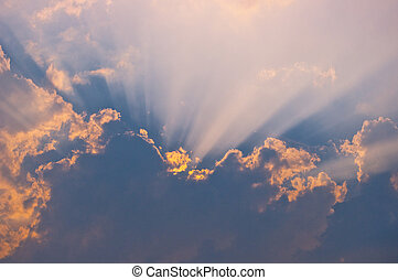 Sunlight from behind a clouds - Sunlight shining from behind...