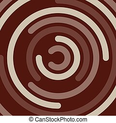 vector abstract background of chocolate swirl