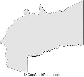 Map - Meta (Colombia) - Map of Meta, a province of Colombia.