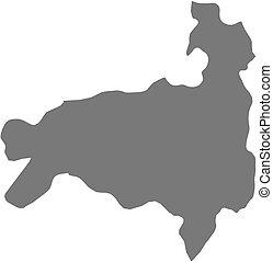 Map - Loja (Ecuador) - Map of Loja, a province of Ecuador.