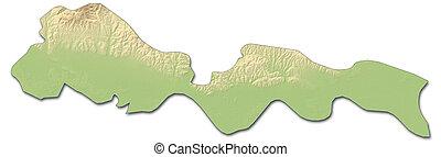 Relief map - Brod-Posavina (Croatia) - 3D-Rendering - Relief...