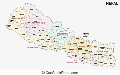 nepal administrative and political map - nepal...