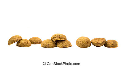 Side view Row of Pepernoten cookies - Side view Row of...