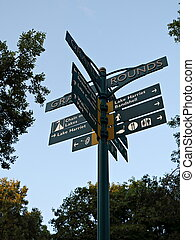 Directional Sign at Lake Harriet - A directional sign in the...