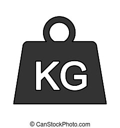 weight kilogram isolated icon vector illustration design